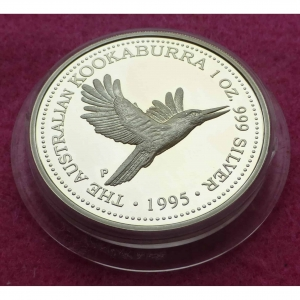 1995 KOOKABURRA 1OZ SILVER PROOF COIN