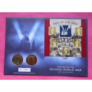 2005-end-of-world-war-two-2-coin-fdc-pnc