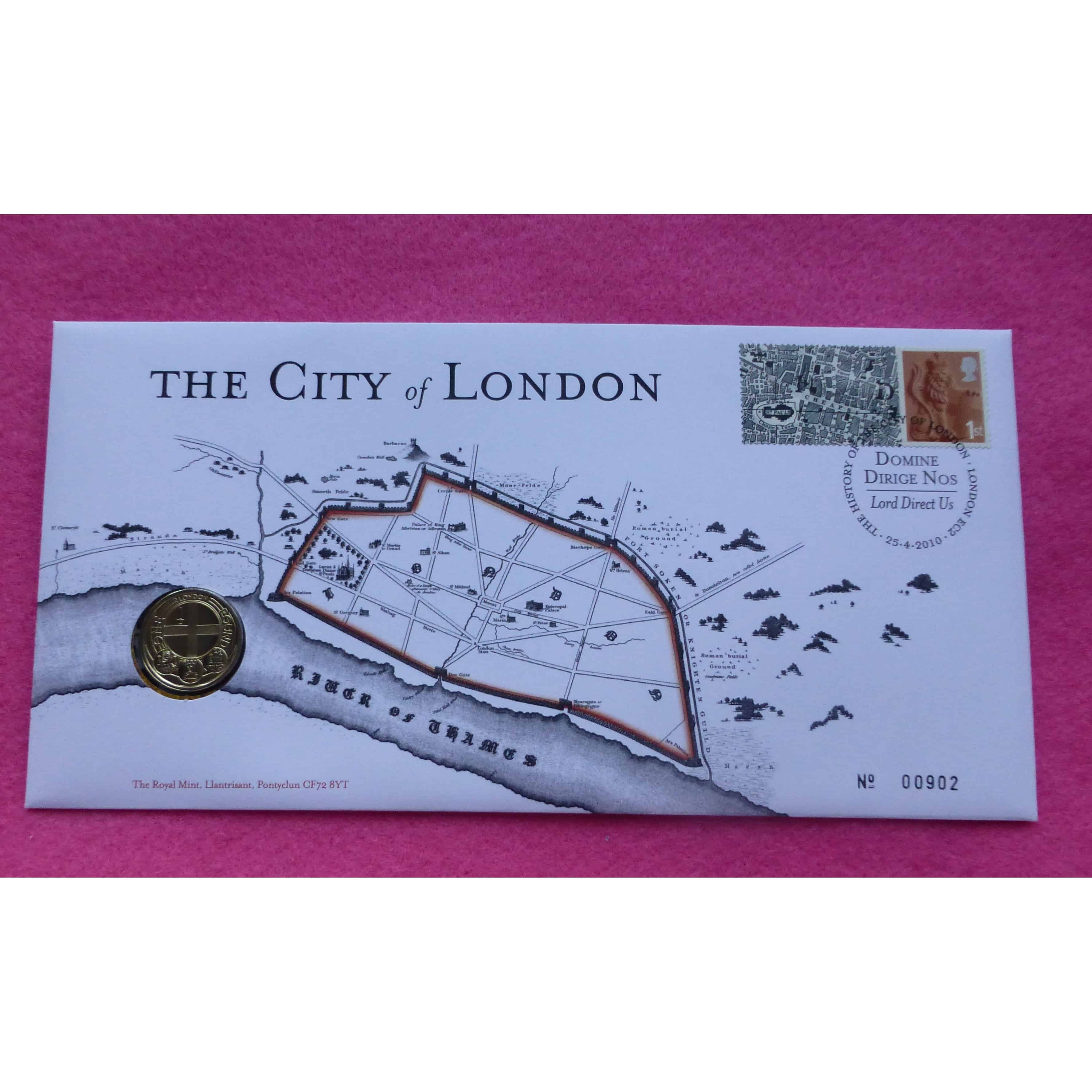 2010 ROYAL MINT CAPITAL CITIES - LONDON ONE POUND COIN £1 FDC / PNC