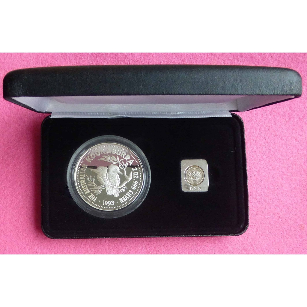 1993 Kookaburra Two Dollar Silver 2oz Proof Coin With