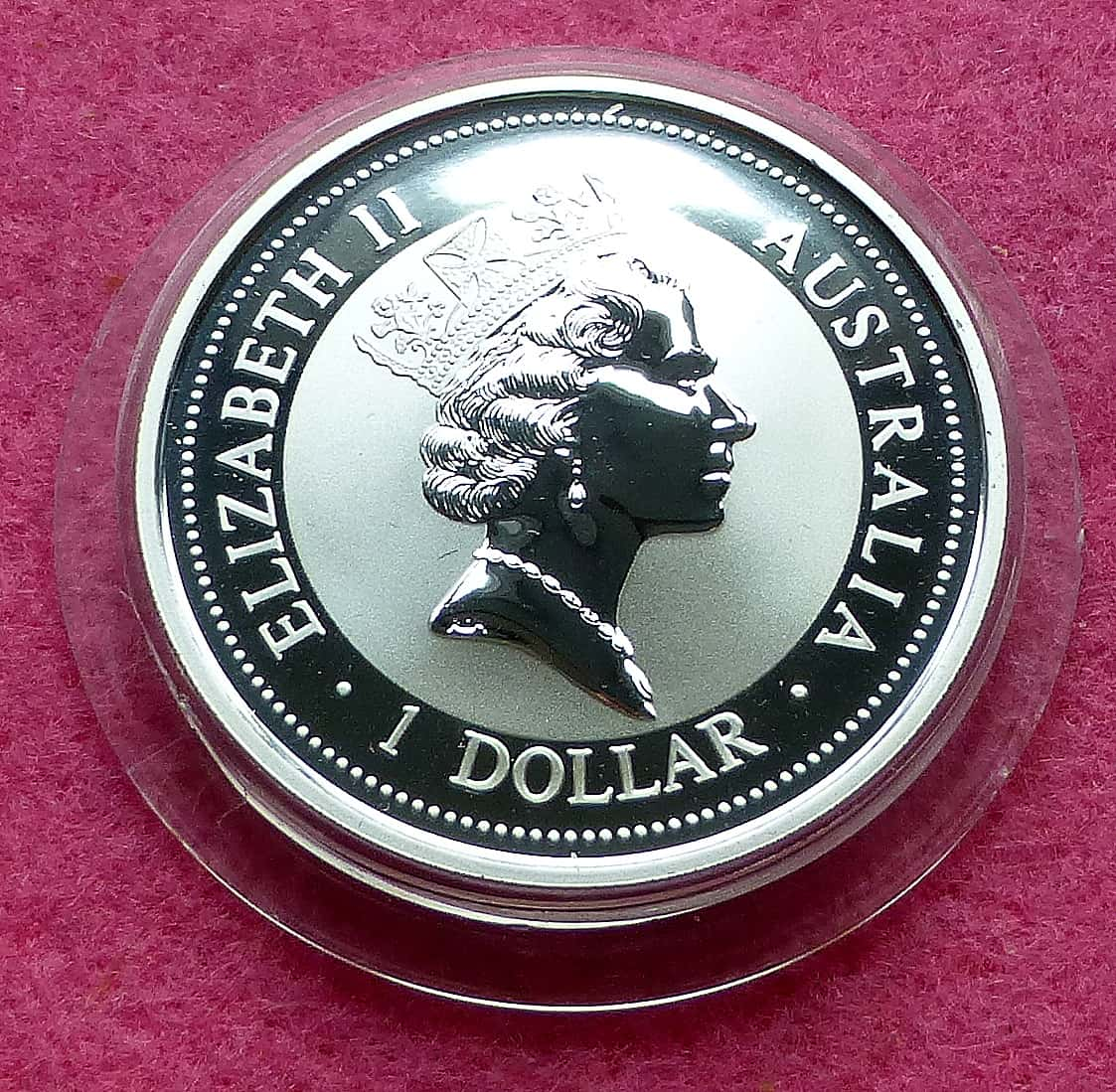 1997 Kookaburra 1oz Silver Proof Coin With 1oz Silver
