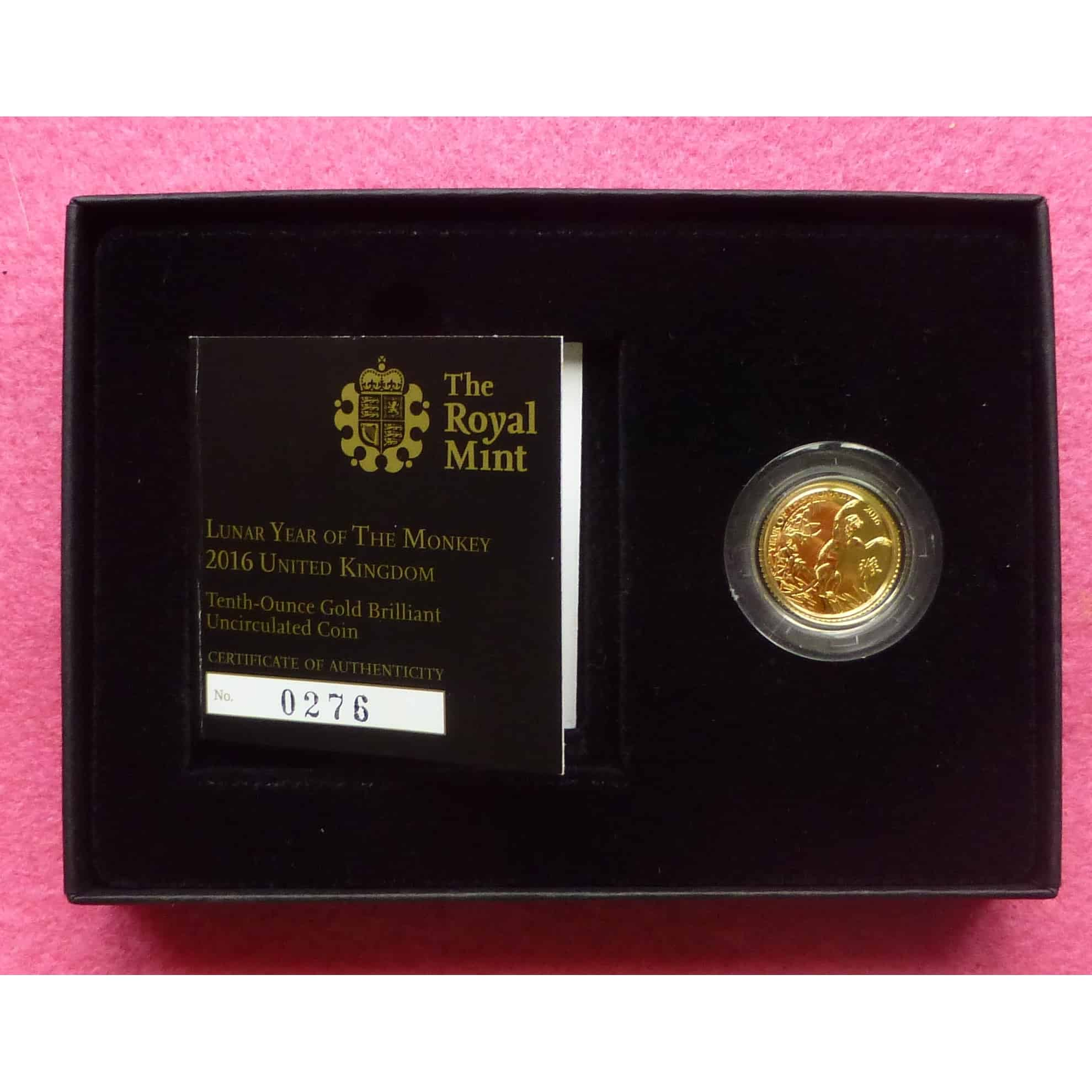 2016 GOLD LUNAR YEAR OF THE MONKEY £10 BU COIN 2 & 2016 GOLD LUNAR YEAR OF THE MONKEY TEN POUND £10 BU COIN BOX AND ... Aboutintivar.Com
