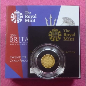 2014 GOLD PROOF BRITANNIA £1 COIN 3
