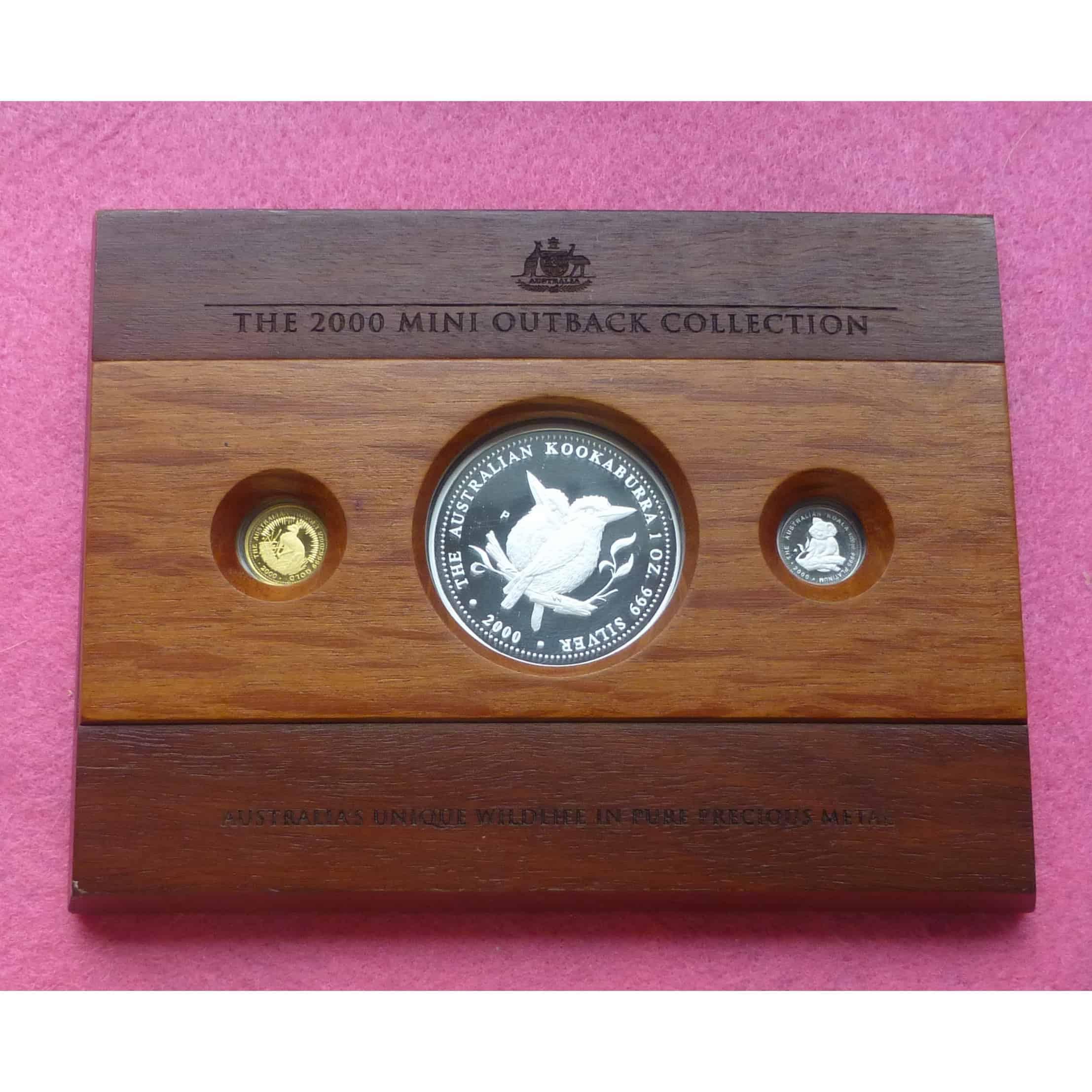 Gold Australian Platinum: 2000 AUSTRALIA MINI OUTBACK COIN COLLECTION