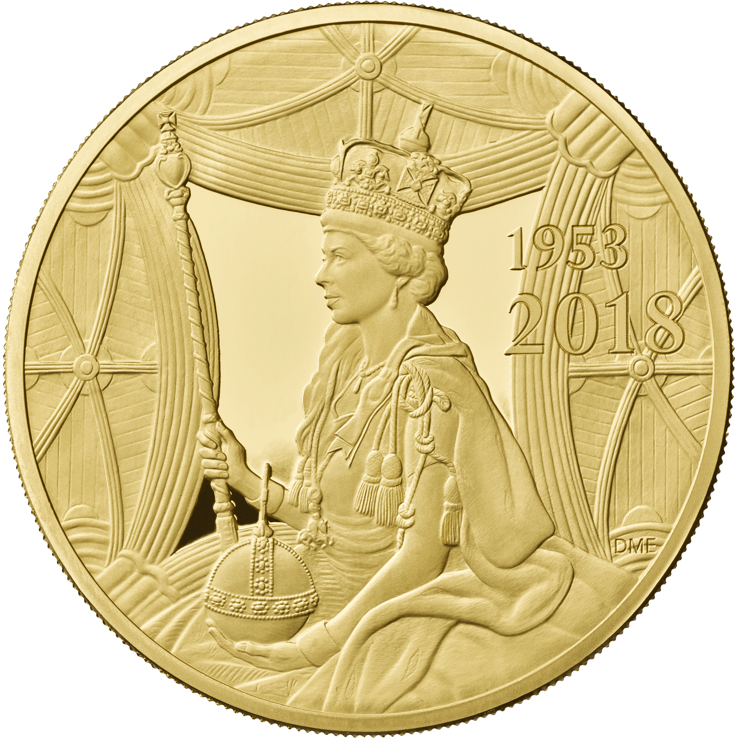 Sapphire Coronation Of Hm Queen 2018 Gold Proof 5oz 163 10