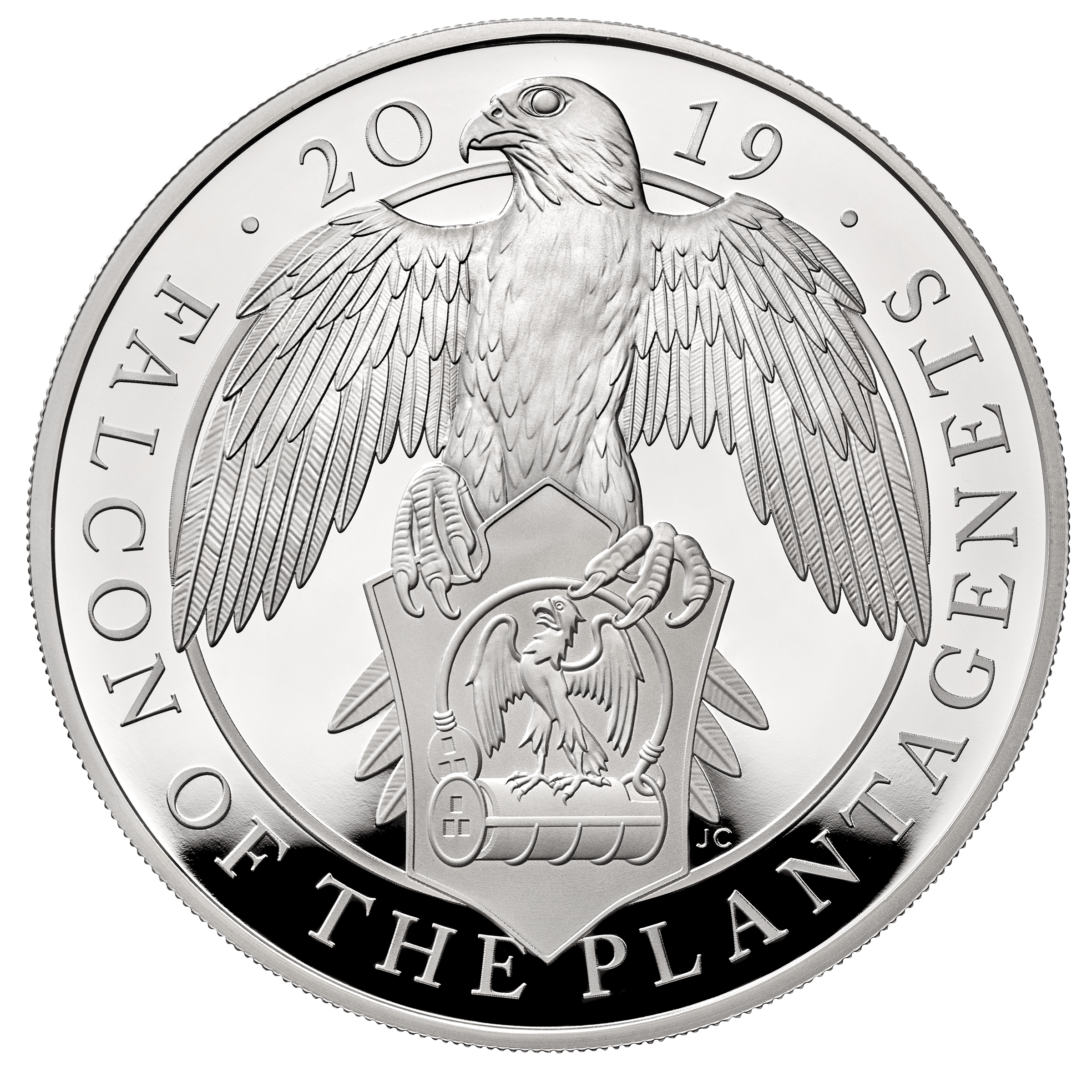 2019 Queen S Beasts The Falcon Of Plantagenets 163 10 10oz