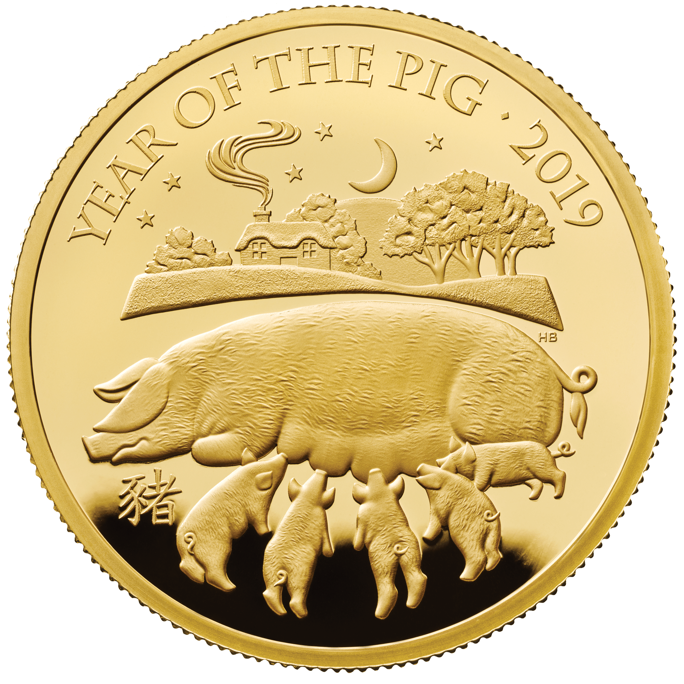 2019 Lunar Year Of The Pig 163 100 Gold Proof 1oz Coin Box