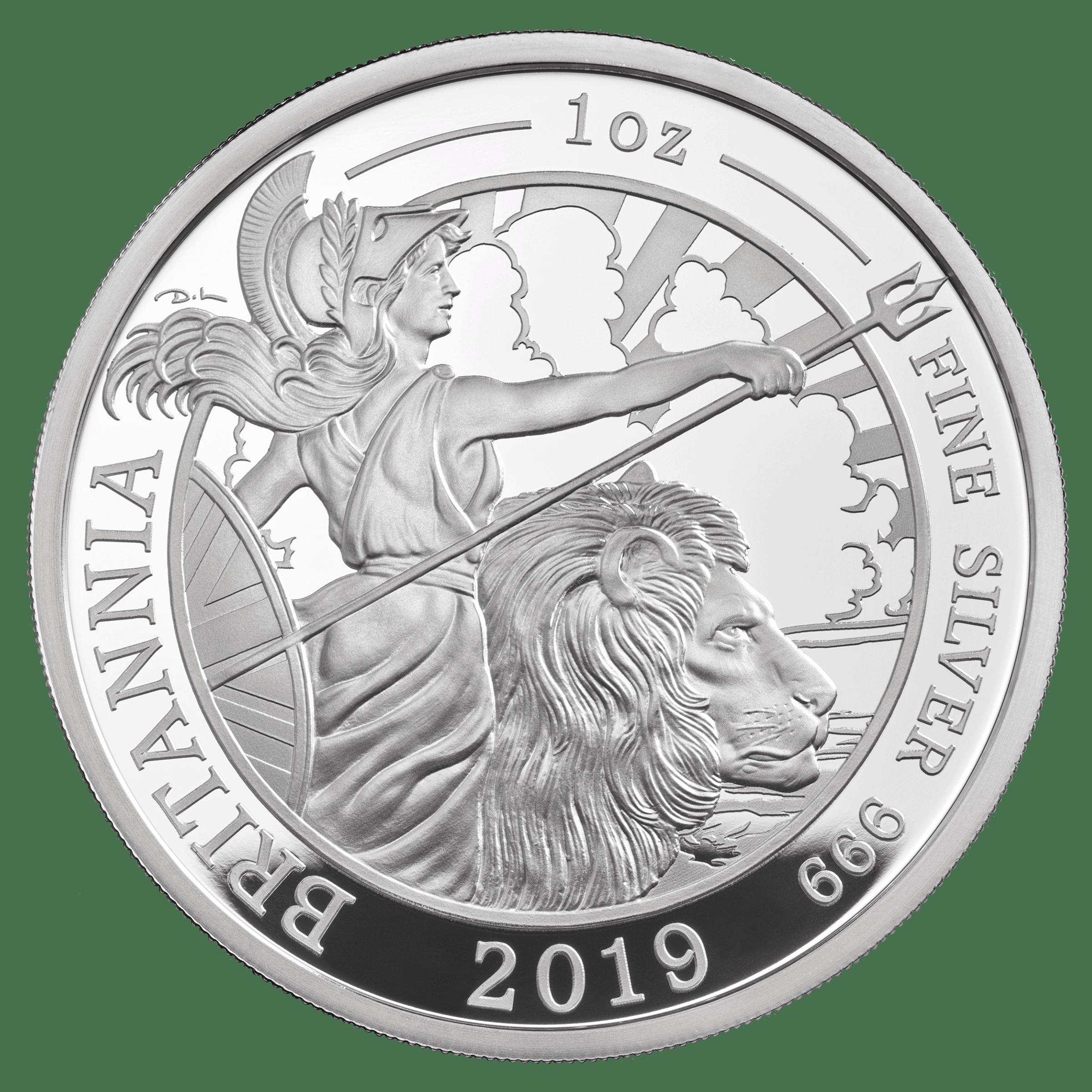 The Britannia 2019 1oz Silver Proof Two Pound 163 2 Coin Box
