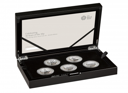 The 50th Anniversary of the 50p 2019 UK 50p Silver Proof Coin Set MILITARY - right - UK195MSP
