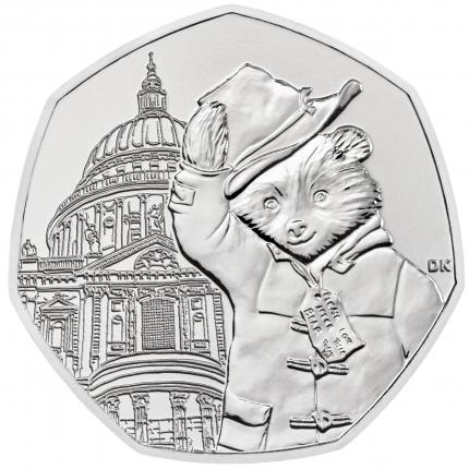 Paddington™ at St Paul's 2019 United Kingdom Brilliant Uncirculated Coin reverse....