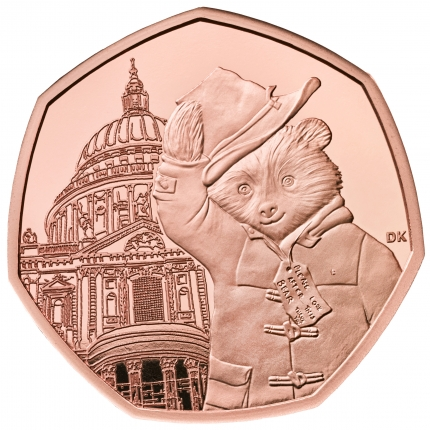 Paddington™ at St Paul's 2019 United Kingdom Gold Proof Coin reverse ....
