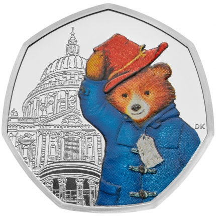Paddington™ at St Paul's 2019 United Kingdom Silver Proof Coin reverse tone....