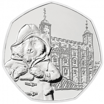 Paddington™ at the Tower 2019 United Kingdom Brilliant Uncirculated Coin reverse....