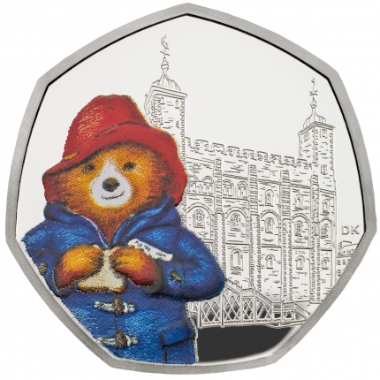 Paddington™ at the Tower 2019 United Kingdom Silver Proof Coin reverse....