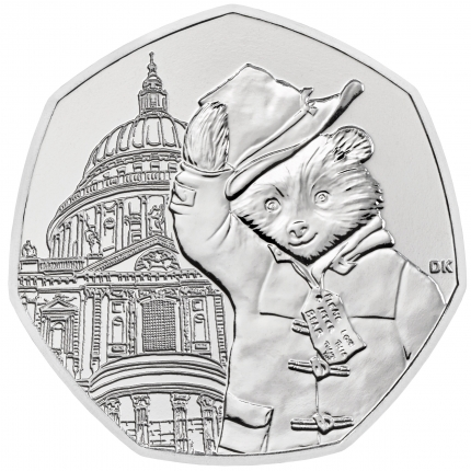 Paddington™ at St Paul's 2019 United Kingdom Brilliant Uncirculated Coin reverse....