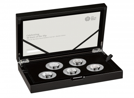 The 50th Anniversary of the 50p 2019 UK 50p Silver Proof Coin Culture Collection - right