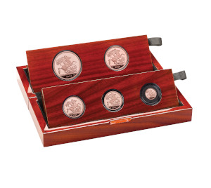 The Sovereign 2020 Five-Coin Gold Proof Set right
