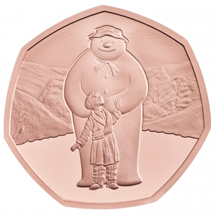 The Snowmanª 2019 UK 50p Gold Proof Coin reverse