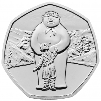 The Snowman™ 2019 UK 50p Brilliant Uncirculated Coin reverse....