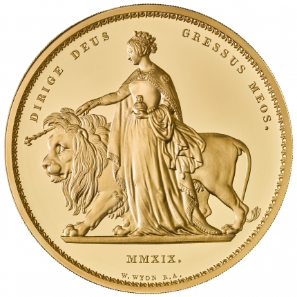 Una and the Lion 2019 UK Kilo Gold Proof Coin reverse