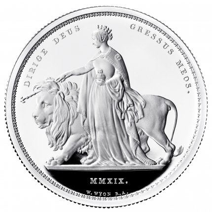Una and the Lion 2019 UK Two-Ounce Silver Proof Coin reverse - UK19UL2S