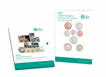 The 2020 United Kingdom Brilliant Uncirculated Annual Coin Set with sleeve - DU20