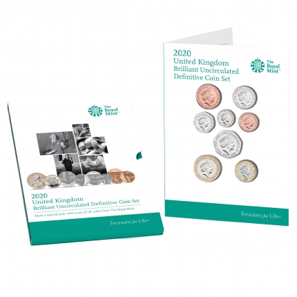 The 2020 United Kingdom Brilliant Uncirculated Definitive Coin Set - DUW20