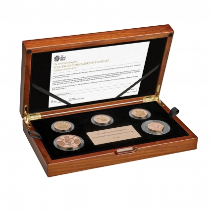 The 2020 United Kingdom Gold Proof Coin Set in case right