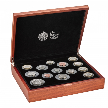 The 2020 United Kingdom Premium Proof Coin Set in case right