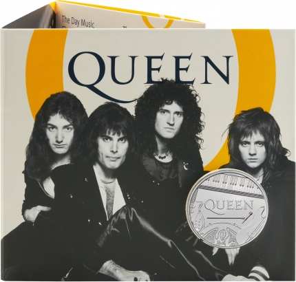 Queen 2020 UK £5 Brilliant Uncirculated Coin packaging front