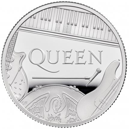Queen 2020 UK Half Ounce Silver Proof Coin reverse - UK20QUHS