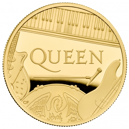 Queen 2020 UK One Ounce Gold Proof Coin reverse - UK20QU1G