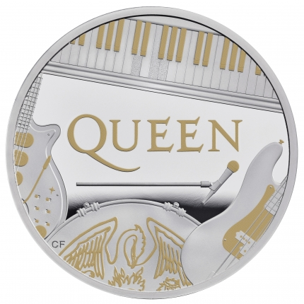 Queen 2020 UK One Ounce Silver Proof Coin reverse tone