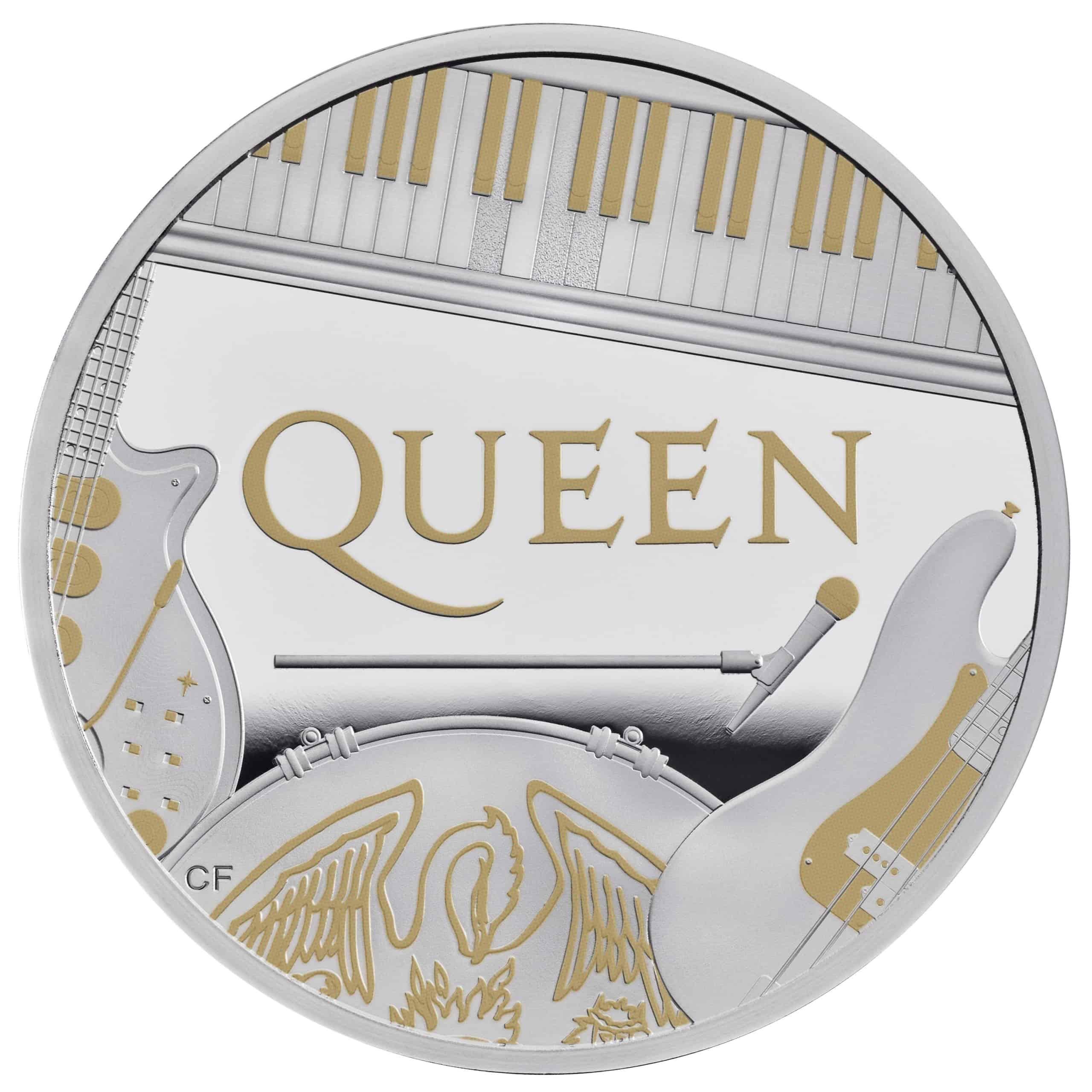 Wedding 2020 1oz Silver Proof Coin: Queen 2020 One Ounce Silver Proof Coin Box