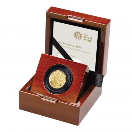 The Britannia 2020 UK Quarter-Ounce Gold Proof Coin left