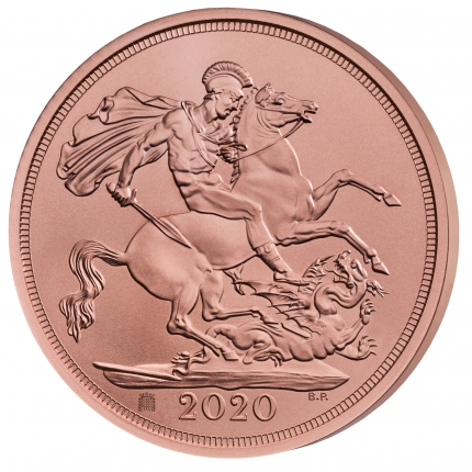 Withdrawal from the European Union 2020 Strike on the Day Sovereign Coin reverse with edge left