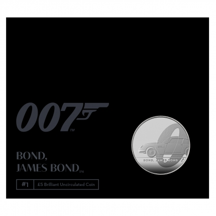 James Bond 1 Bond, James Bond 2020 UK £5 Crown Brilliant Uncirculated Coin in pack