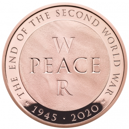 75th Anniversary of the End of the Second World War 2020 UK £5 Gold Proof Coin reverse tone