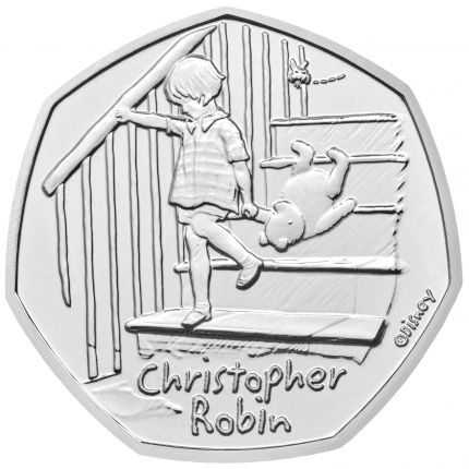 Christopher Robin 2020 UK 50p Brilliant Uncirculated Coin reverse - UK20CRBU