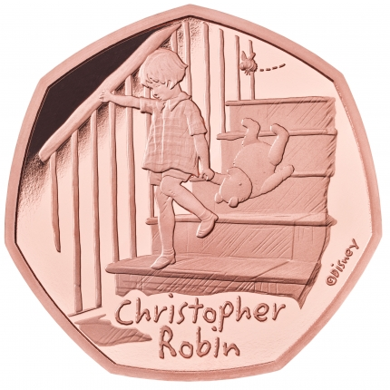 Christopher Robin 2020 UK 50p Gold Proof Coin reverse
