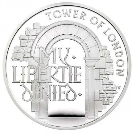 The Tower of London Collection - The Infamous Prison 2020 UK £5 Silver Proof Piedfort Coin - UK20IPPF