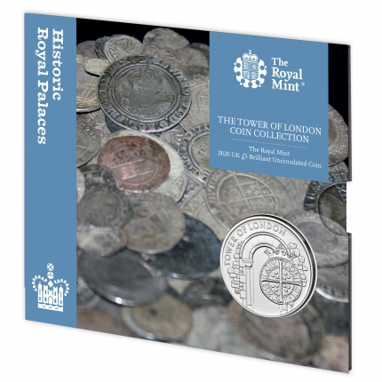 The Tower of London Collection - The Royal Mint 2020 UK £5 Brilliant Uncirculated Coin slip case - UK20RMBU