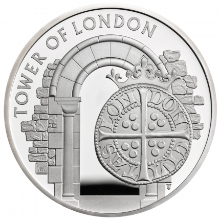 The Tower of London Collection - The Royal Mint 2020 UK £5 Silver Proof Piedfort Coin - UK20RMPF