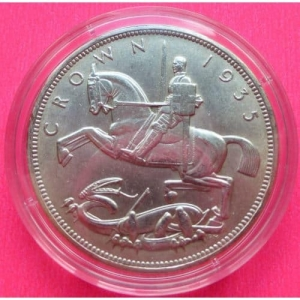 1935-KING-GEORGE-V-SILVER-JUBILEE-SILVER-CROWN-ENCAPSULATED-WITH-COA-331160537899