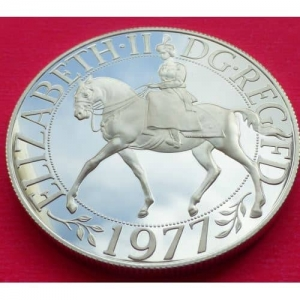 1977-SILVER-PROOF-SILVER-JUBILEE-CROWN-WITH-COA-231190709235