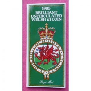 1985-ROYAL-MINT-WELSH-LEEK-1-ONE-POUND-BU-COIN-IN-ORIGINAL-GIFT-PACK-331211074150