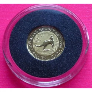 1991-AUSTRALIAN-GOLD-NUGGET-5-FIVE-DOLLARS-PROOF-COIN-AND-COA-330956352193