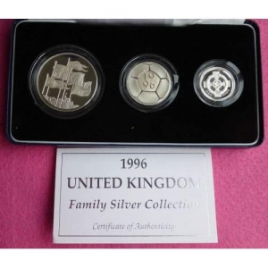 1996-ROYAL-MINT-SILVER-PROOF-FAMILY-THREE-COIN-COLLECTION-BOX-AND-COA-GORGEOUS-331195457645