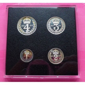 2000-ROYAL-MINT-MILLENNIUM-MAUNDY-SILVER-PROOF-4-COIN-SET-RARE-231117841899