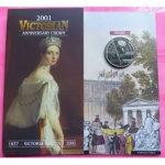 2001-ROYAL-MINT-QUEEN-VICTORIA-100TH-ANN-BRILLIANT-UNCIRCULATED-5-COIN-331154502340